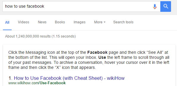 rich answers in google